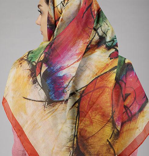 شال رنگی ساده Utab